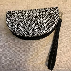 The Limited Black and White Wristlet